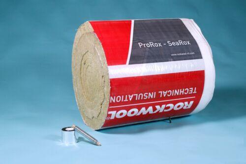 Rockwool 500°C Anwendungstemp 8,0m//30mm Rauchrohrisolierung Set Steinwolle bis
