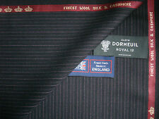 """DORMEUIL """"ROYAL OPERA"""" WOOL,SILK,CASHMERE SUITING FABRIC 3.4 m. - MADE IN ENGLAN"""