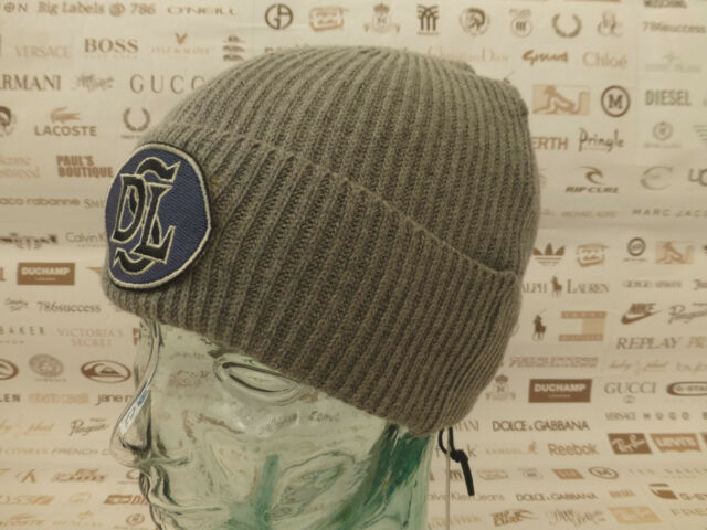 ... info for a9521 2ef3c DIESEL Turn-up Beanie K-TIN Ribbed Hat Badge Grey  ... 9e67ca000cb