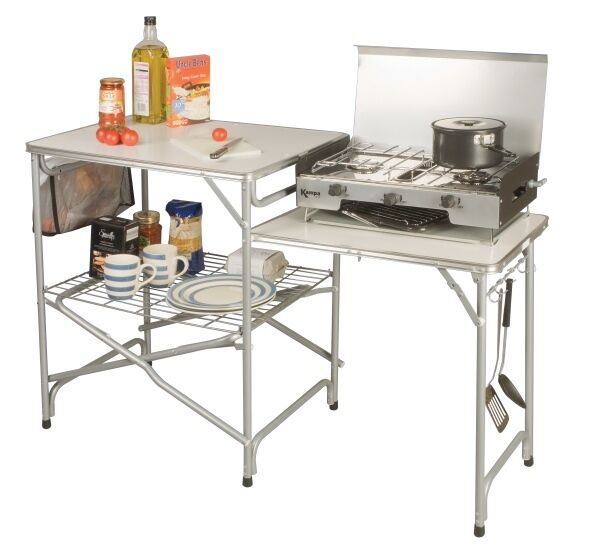 Kampa Colonel Field Kitchen Camping/Camp Worktop/Stand