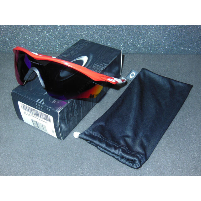 ef6b78d910a New Oakley M2 Frame Sunglasses Redline Positive Red Iridium Cycling Sport  Shield