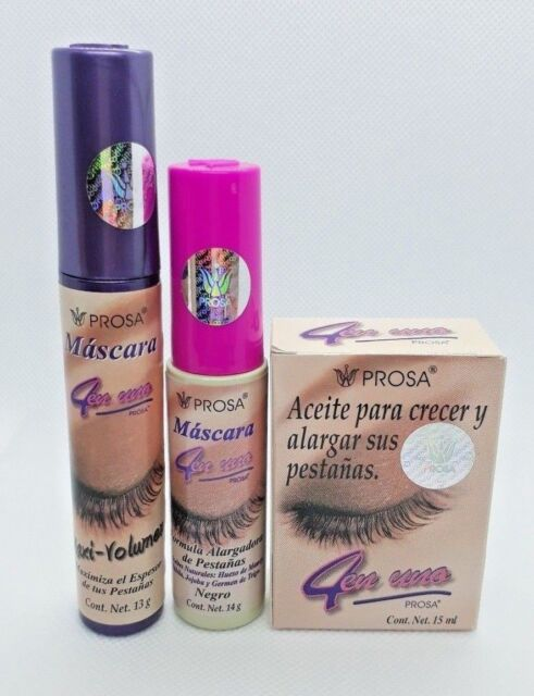 7bbab698cbc PROSA 4 EN 1 COMBO MASCARA OIL FOR ENLARGING EYELASHES RIMEL ACEITE DE  MAMEY SET
