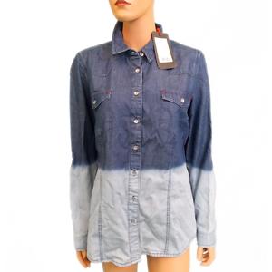 H.I.S Jeans Damen Blouse Bluse w437 ombre wash HIS-500-04-004 251583 XXL