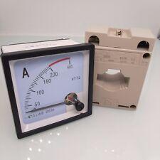 Us Stock Ac 0200a Analog Amp Current Panel Meter Ammeter Amp Current Transformer
