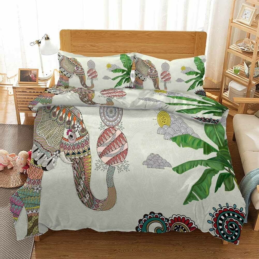Elephant Play Ball 3D Printing Duvet Quilt Doona Covers Pillow Case Bedding Sets