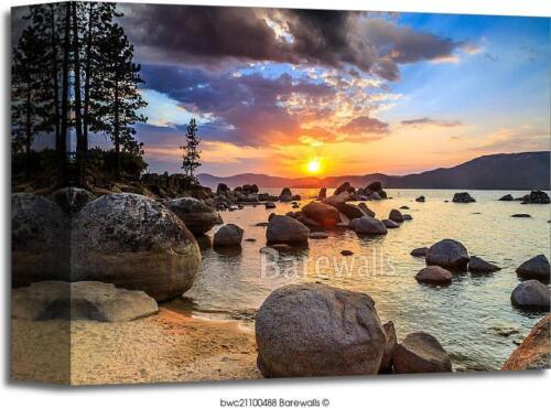 Lake Tahoe Sunset Art Print Home Decor Wall Art Poster D