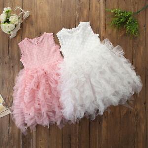 Kids-Baby-Girl-Princess-Dress-Wedding-Bridesmaid-Pageant-Party-Lace-Tutu-Dress
