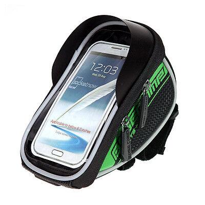 Bicycle Bike Cycling Front Frame Tube Handlebar Bag Waterproof 5.5''Mobile Phone
