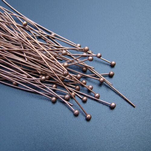 p00690x6--v 10-50-100 Stück KOPFSTIFTE Metall Nietstifte Farbe KUPFER 56 mm