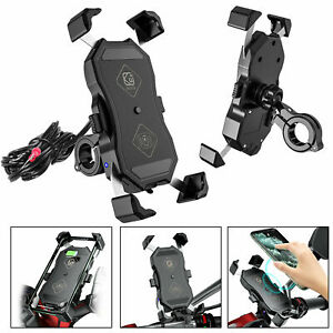 Motorcycle-Phone-Holder-15W-Wireless-QC-3-0-USB-Charger-Phone-GPS-Mount-Stand