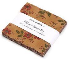"""Alice's Scrapbag Moda Charm Pack 42 100% Cotton 5"""" Precut Fabric Quilt Squares"""