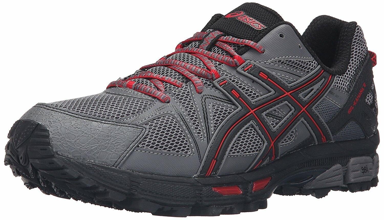Mens Asics Gel Kahana 8 Trail Running Shoes Shark/Black/True Red T6L0N 9690 10.5