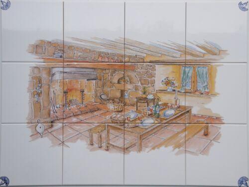 "Dekor Landhaus nach Art:/""Delfter Kacheln/"",15er Fliesen Küchenfliesen o Bordüre"