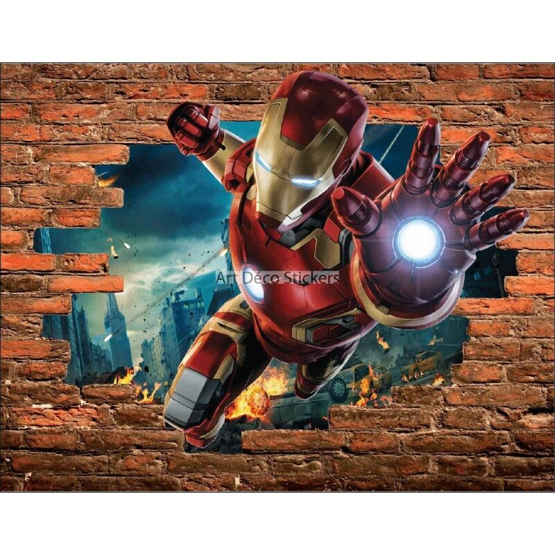 Aufkleber Schein Auge Stein iron man Avengers ref 15088 15088
