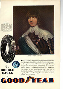ORIGINAL COLOUR ADVERT FOR GOODYEAR TYRES ISSUED 1931 - Bodmin, United Kingdom - ORIGINAL COLOUR ADVERT FOR GOODYEAR TYRES ISSUED 1931 - Bodmin, United Kingdom