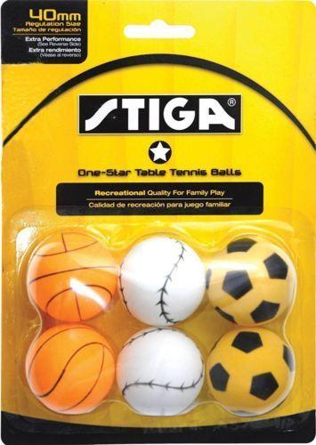 STIGA 1-Star Sport Table Tennis Balls 6 Pack