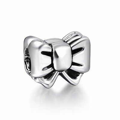 Brand Bow-knot Style 925 Sterling Silver European Bead Charms Fit Women Bracelet