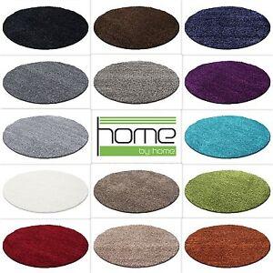 Hochflor-Shaggy-Rund-Teppich-Carpet-Wohnzimmer-vers-Farben-amp-Groessen-Neu