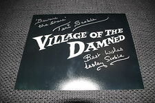 VILLAGE OF THE DAMNED signed Autogramme LESLEY & TERI SCOBLE InPerson LOOK