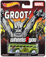 SURFIN SCHOOL BUS Groot - MARVEL - 2015 Hot Wheels Pop Culture D Case