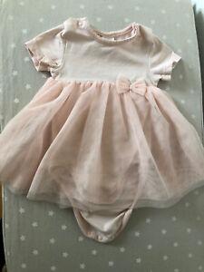 H&M Body Kleidchen EUR 62 Baby Kleid rosa Tüll Mädchen   eBay