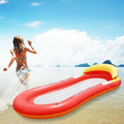 Wasserhängematte Aufblasbare Pool Schwimmliege Geeignet für Strand//Pool Rot