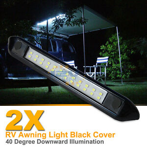 2x 12v Led Awning Light Rv Camper Trailer Boat Exterior Camping Bar Lamp Cool W Ebay