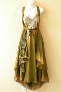 L911-Vintage-Silk-Magic-34-034-Long-Wrap-Skirt-Halter-Tube-Maxi-Dress-Bonus-DVD