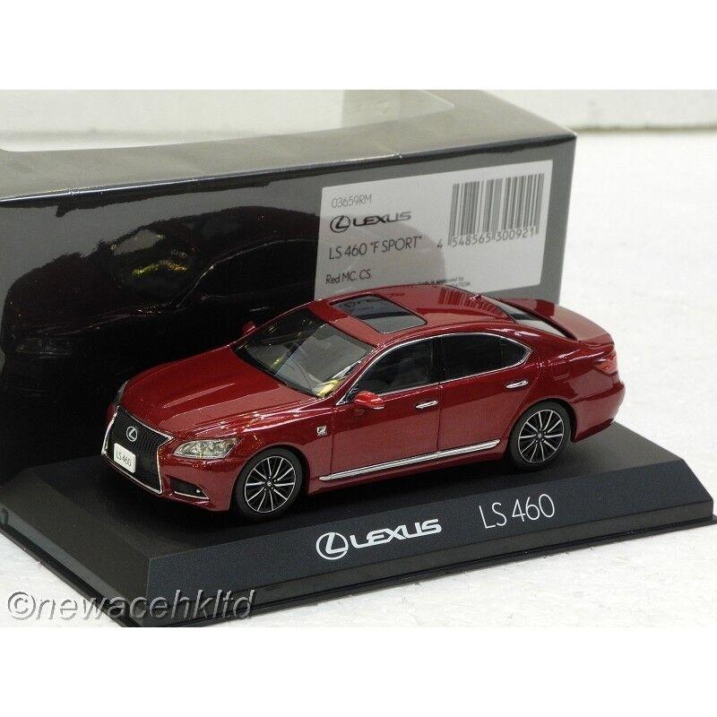 LEXUS LS460 LS460 LS460 F Sport rojo Mc CS Kyosho Models 1 43  03659RM b9c078