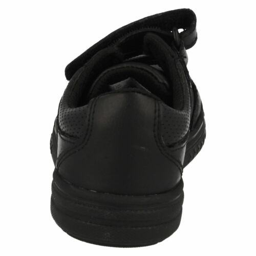 Boys SALE Clarks Chad Slide Inf Black Leather strap School Shoes