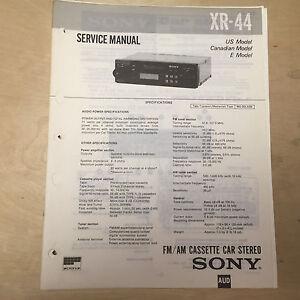 sony service manual for the xr 44 cassette player radio car stereo rh ebay co uk leak stereo 70 service manual leak stereo 30 service manual