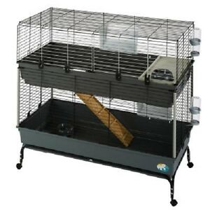 Cage Lapin Cobaye 2 étages Petit Pet Cage Mobile Charges D'accessoires Cadeau-afficher Le Titre D'origine Mkutmsgx-10105451-252398377