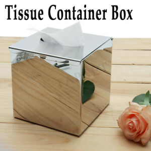 Top-Chrome-Colour-Tissue-Container-Box-Napkin-Holder-Cover-Hotel-Bedroom