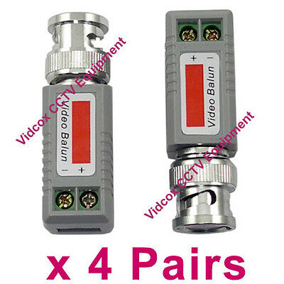 4 CH Passive CCTV Camera UTP BNC Video Balun Transceiver Rj45 CAT5 Cable 2 pcs