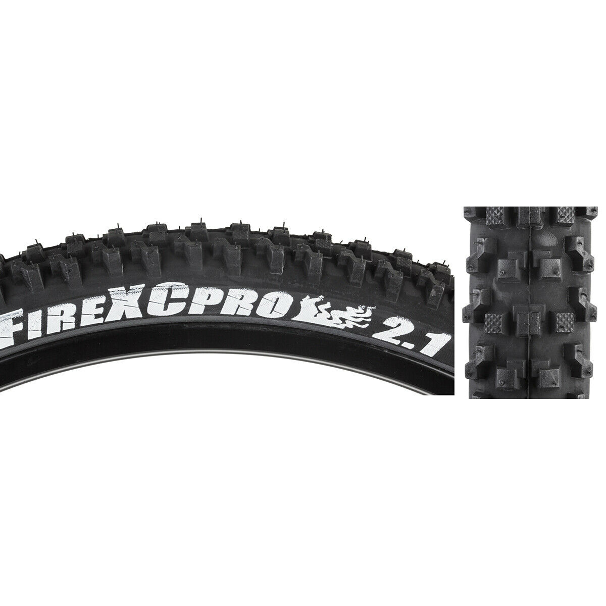 Panaracer Fire Pro Tubeless Compatible 26 x 2 .1 Tire Folding Bead Black//Red