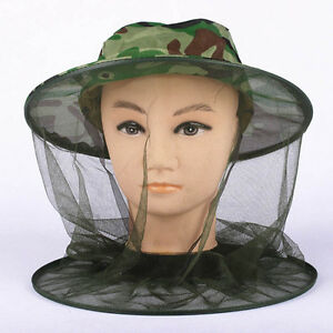 Mosquito Hat Net Head Face Protector Bee Bug Mesh Insect Fishing Fly Resistance