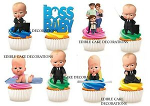 30 The Boss Baby STAND UP Cupcake Fairy Cake Topper Edible ...