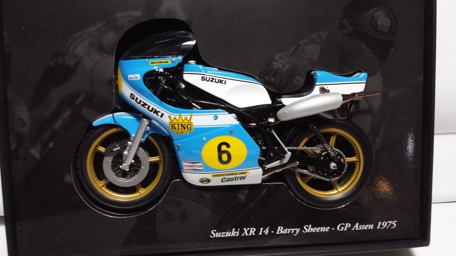 elige tu favorito Barry Barry Barry Sheene. Suzuki XR14. GP ASSEN 1975. Minichamps 1 12.  El nuevo outlet de marcas online.