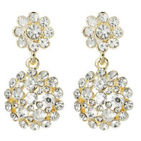 Amrita Singh Gold Crystal Agatha Statement Earrings Erc 2603