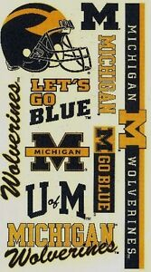 NCAA-College-MICHIGAN-University-Temporary-Tattoos-Sheet-by-Wincraft-Inc