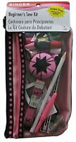 Singer Beginner`s Sewing Kit, Pink/black , New, Free Shipping on sale