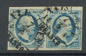 Nederland-1-gebruikt-paar-Plaat-II-positie-31-32-met-onduidelijk-VLISSINGEN-B