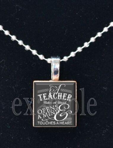 School Teacher Personalized Scrabble Necklace Pendant Charm Key-chain Great Gift