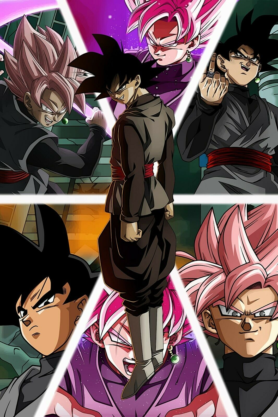 11x17 13x19 Dragon Ball Z Poster Super Saiyan Rose NEW Goku Black