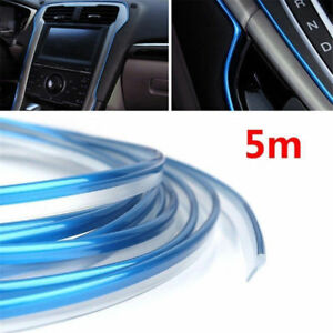 Useful-Car-Truck-Edge-Gap-Interior-Line-Moulding-Trim-Molding-Strip-Decor-Blue