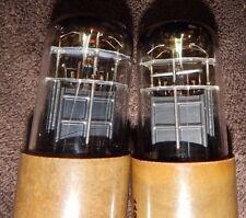 RARE BENDIX PAIR TYPE CEA 5992 = 6V6GT = TE-8 6V6 TUBES *3 MICA BOX BLACK PLATES