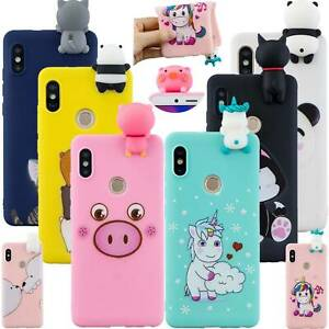 newest 15d1b fa1a4 Details about Bumper Animail 3D Silicone Case Back Cover For Xiaomi Redmi  Note 5/6/7 Pro 5A 6A