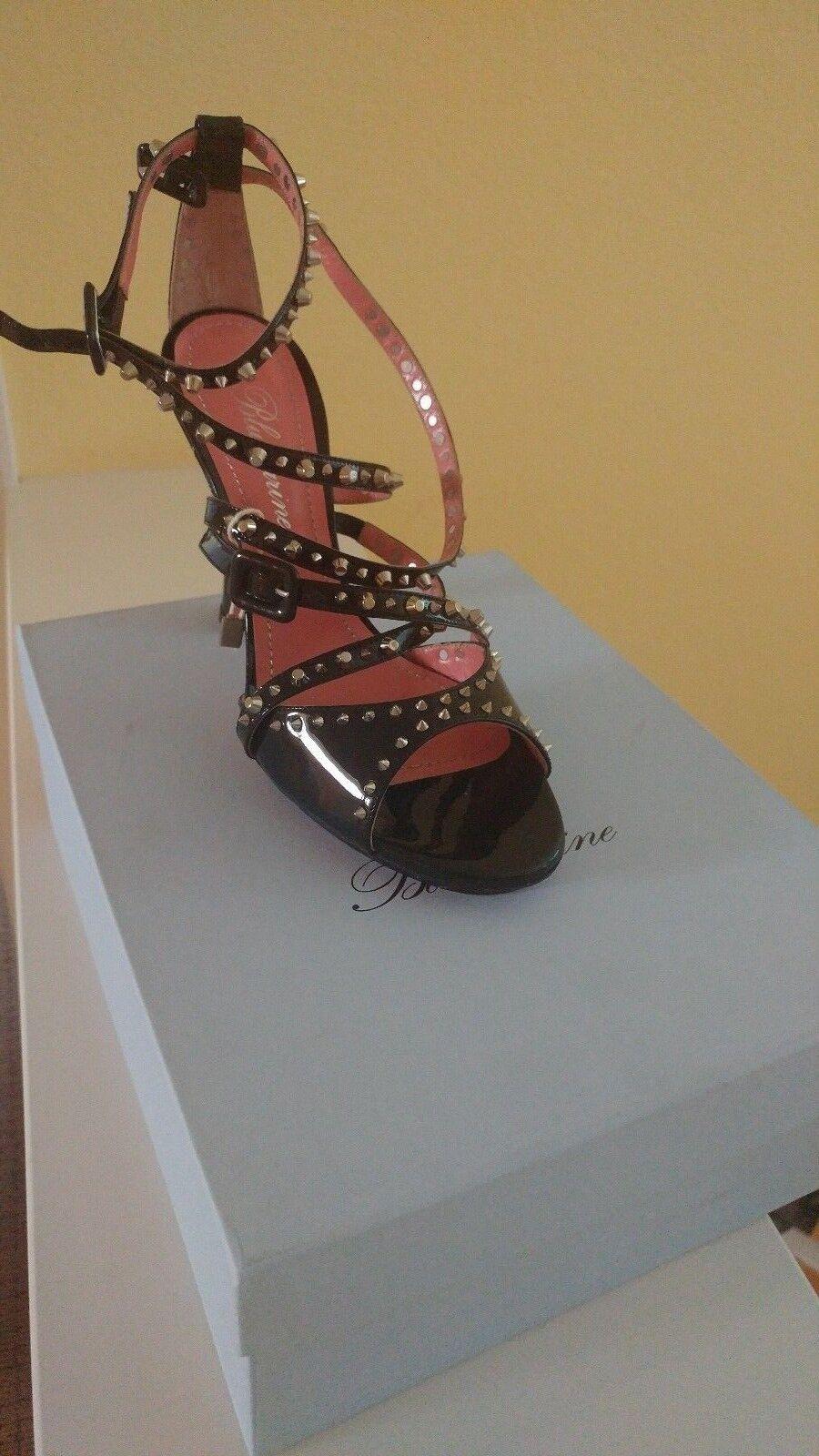bluemarine fashionable black high heels sandals