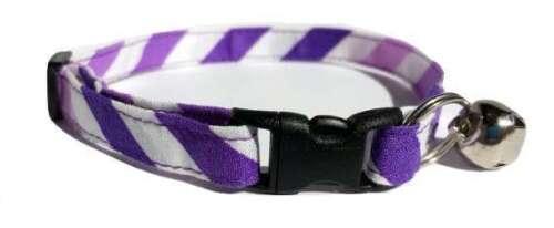 Purple Chevron Kitten or Cat Collar Easter Spring Fabric stripe lavender ombre