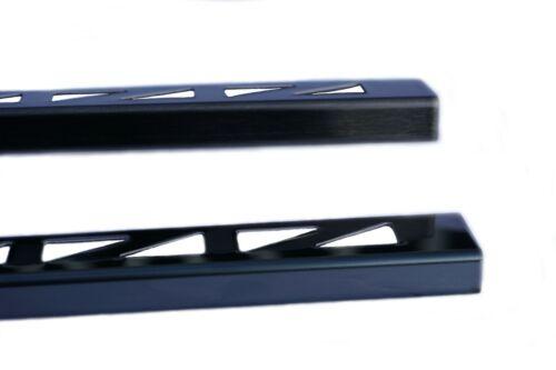 Edelstahlschiene L-Form 10 u 11 mm Winkelprofil Fliesenschiene 2,5 M Schwarz V2A